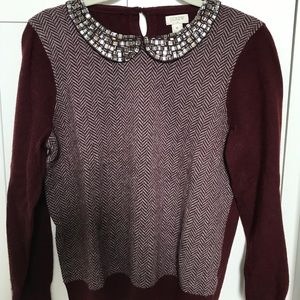 Jcrew jeweled collar sweater